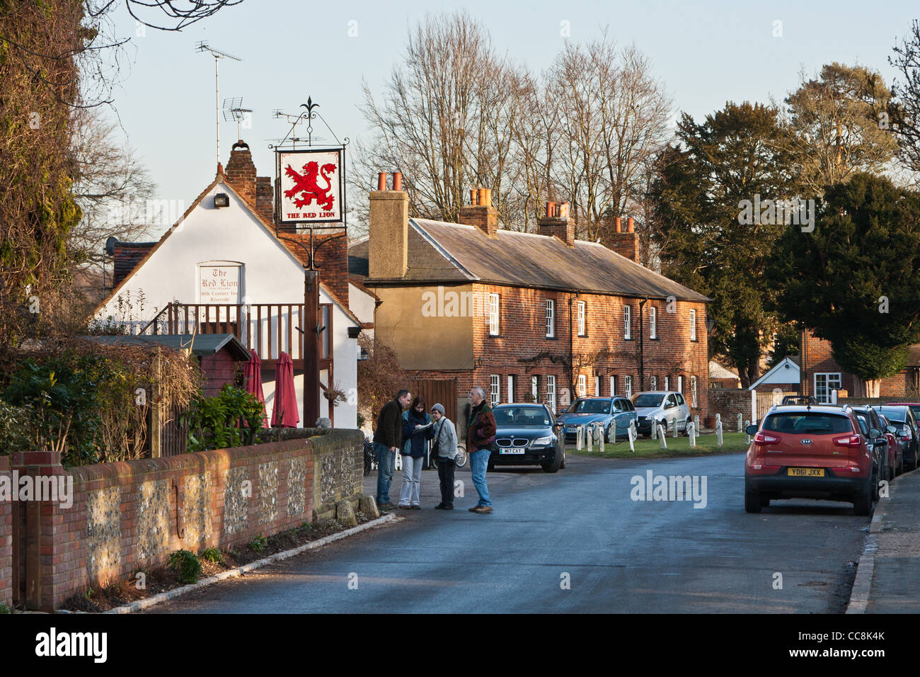 The village of Little Missenden.  HS2 will emerge from the tunnel near here. - Stock Image