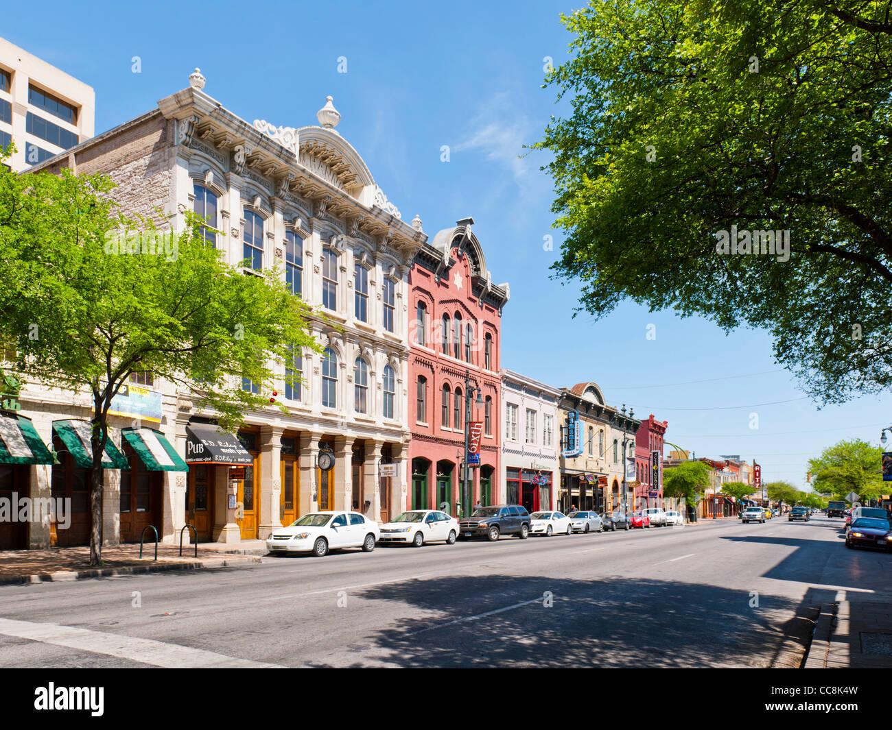 Historic 6th street district austin tx stock photo for Tattoo shops amarillo tx