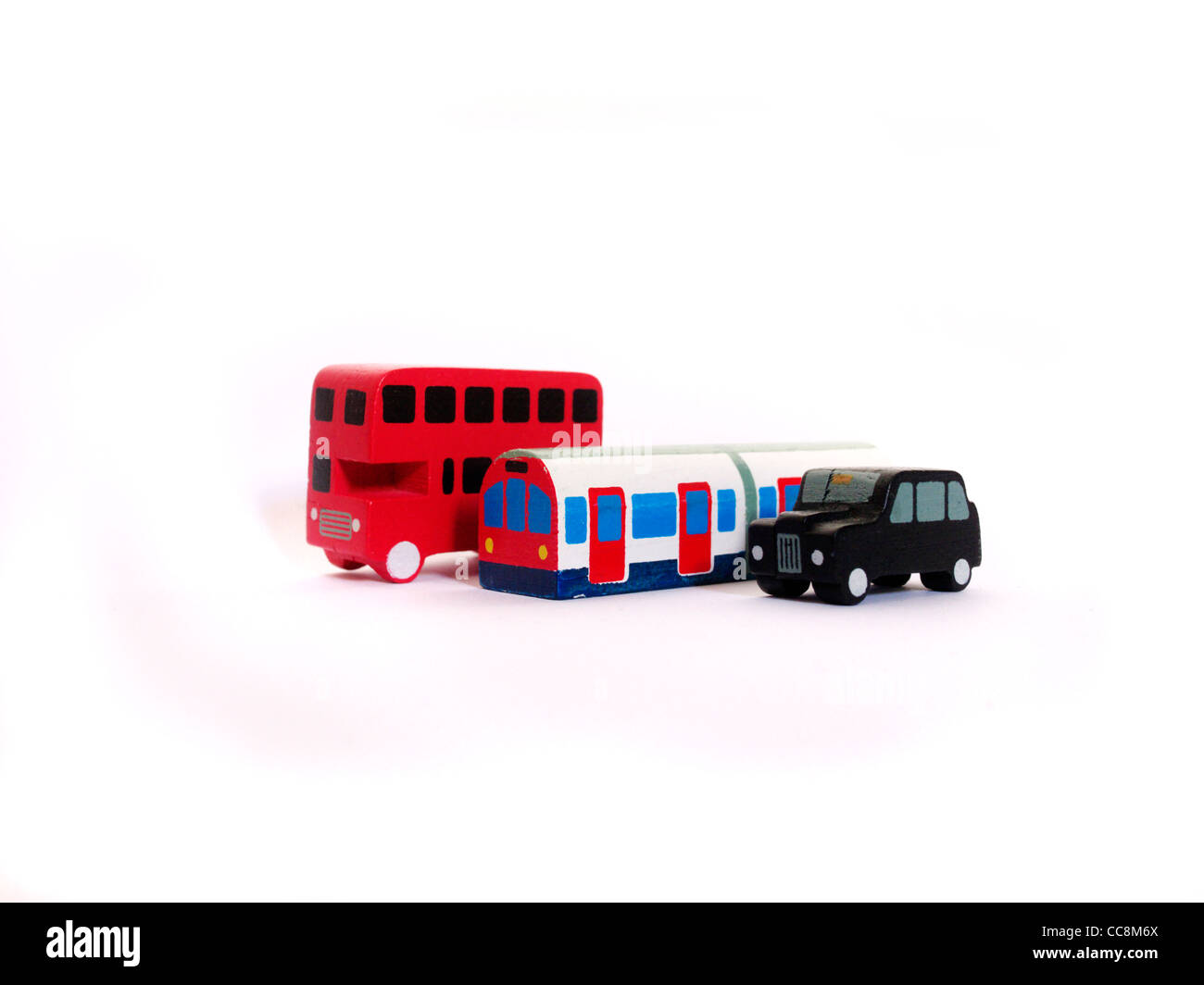 Taxi, Bus and Train - Stock Image