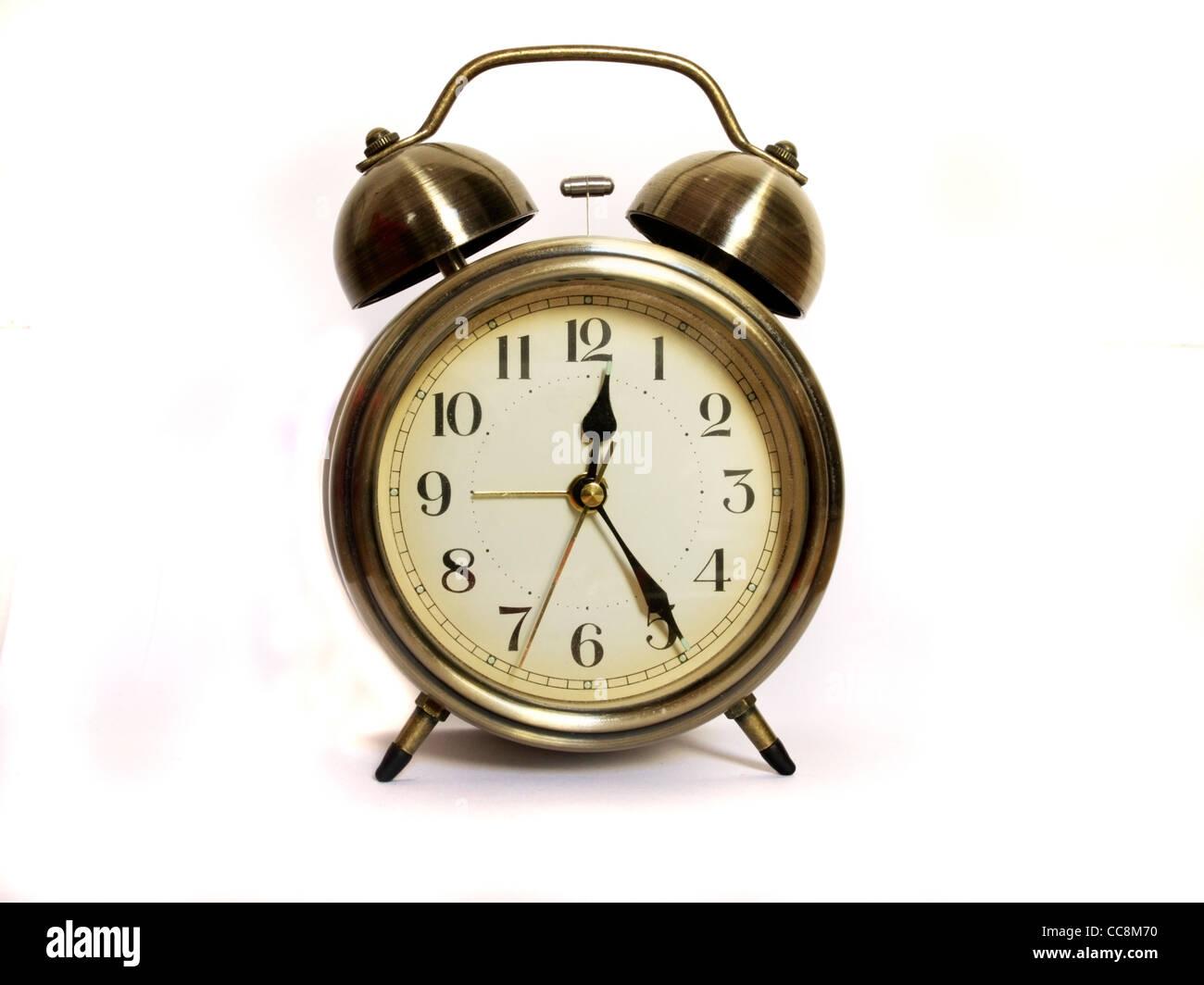 Analogue alarm clock - Stock Image