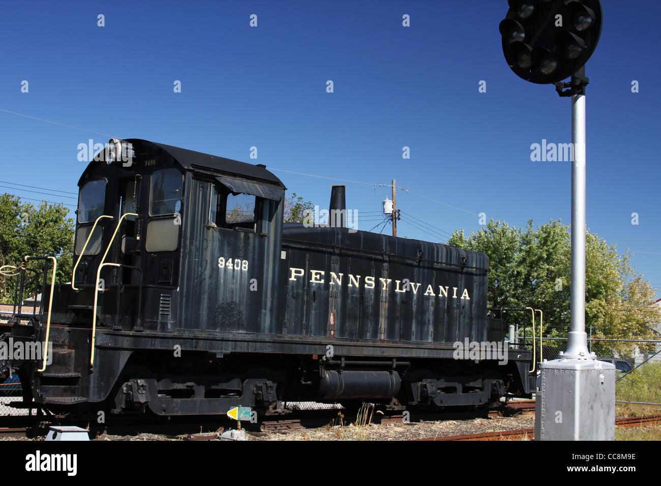 Pennsylvania Railroad 9408 locomotive. - Stock Image