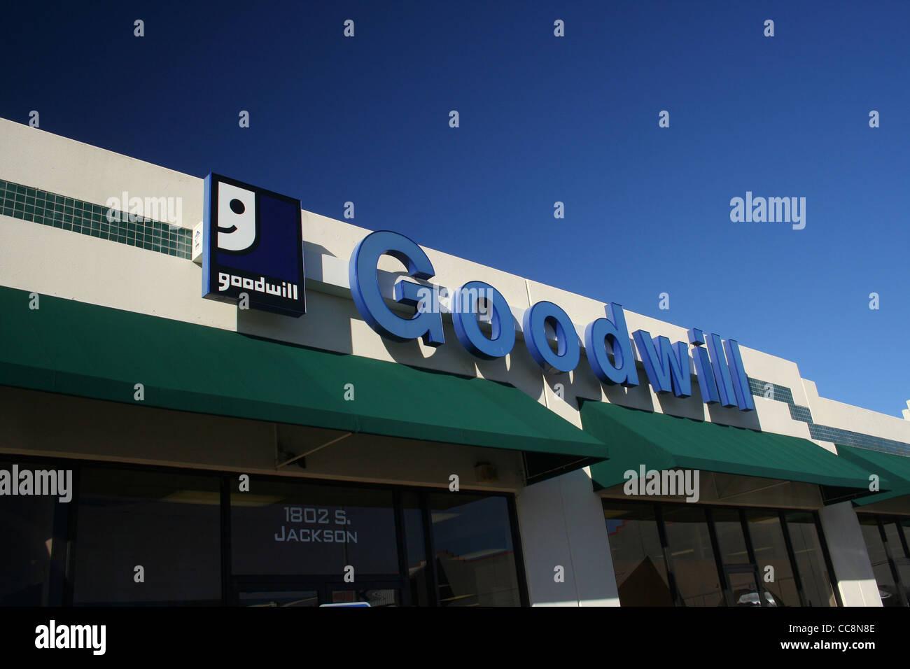 Goodwill - Jacksonville, TX - January 2012 - Stock Image