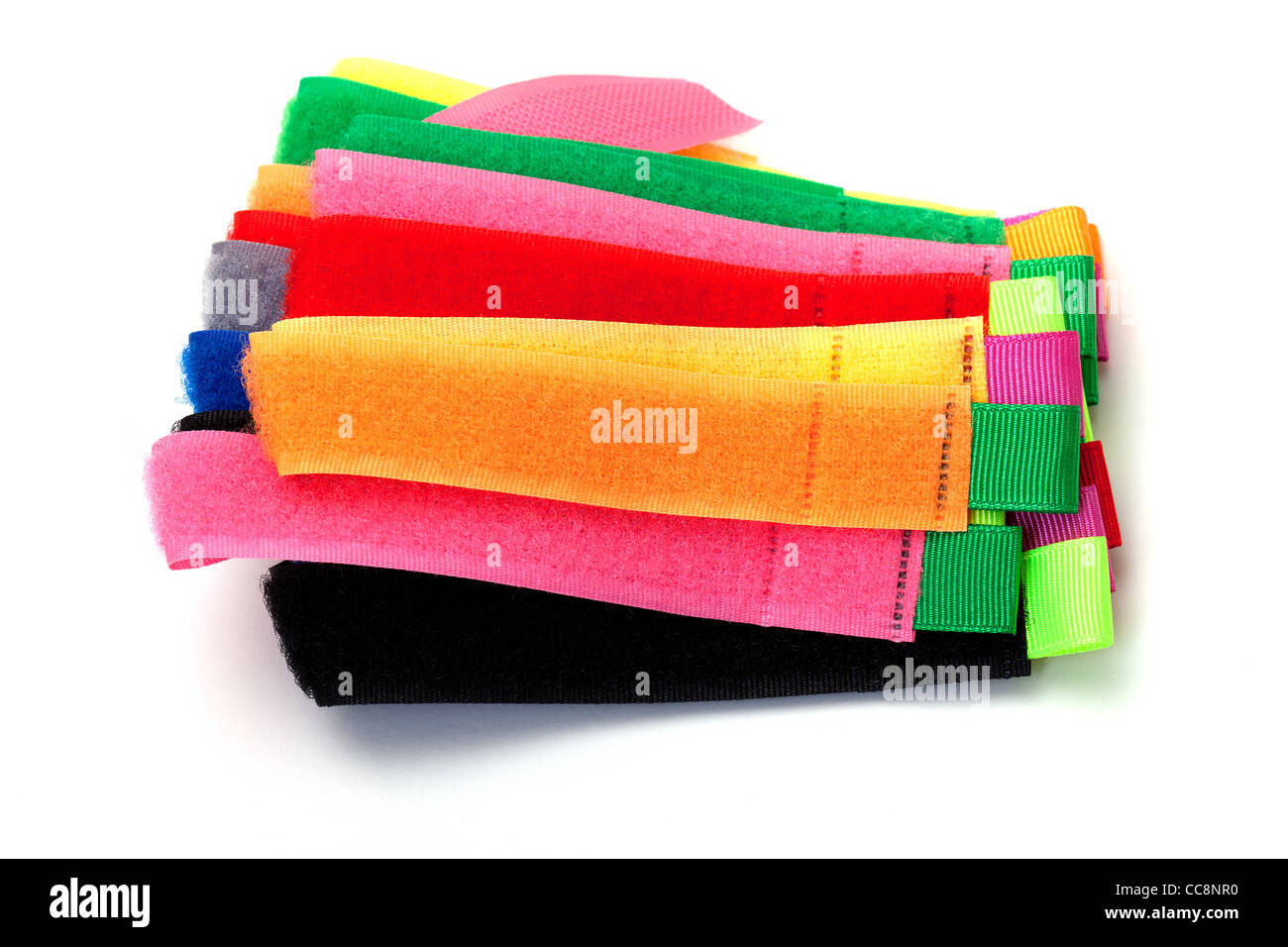 photo of multicolor velcro straps - Stock Image