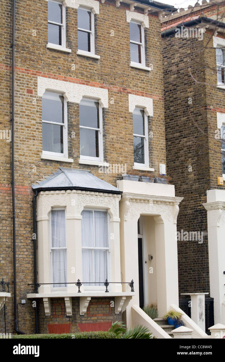 Victorian townhouse, Greenwich, London - Stock Image