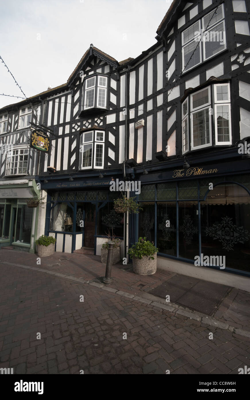 The Pullman Pub Church Street Folkestone Kent UK Half Tudor Style Timber Framed Pubs - Stock Image