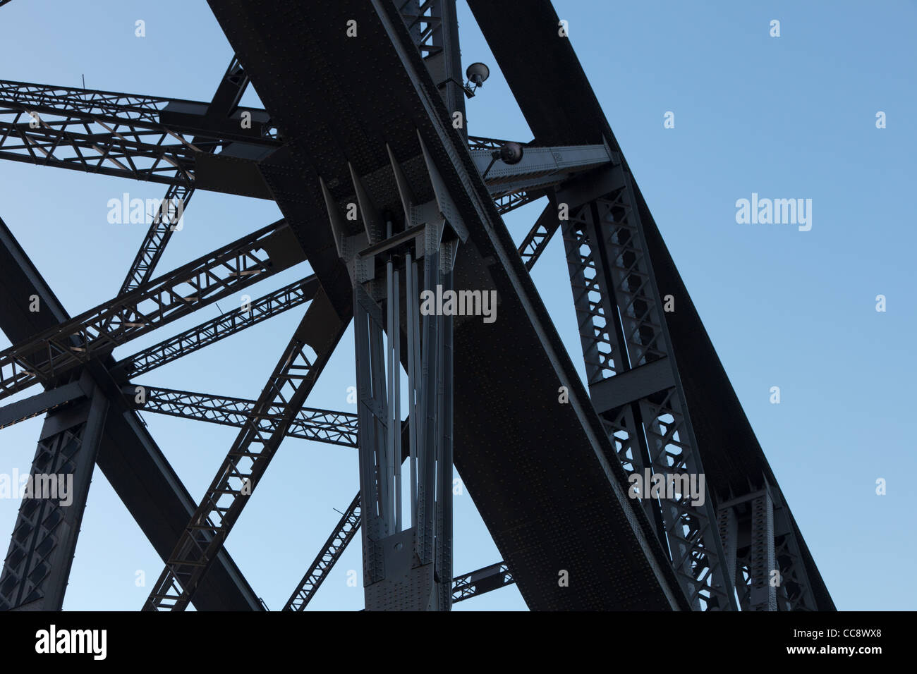 Metalwork of the Sydney Harbour Bridge - Stock Image