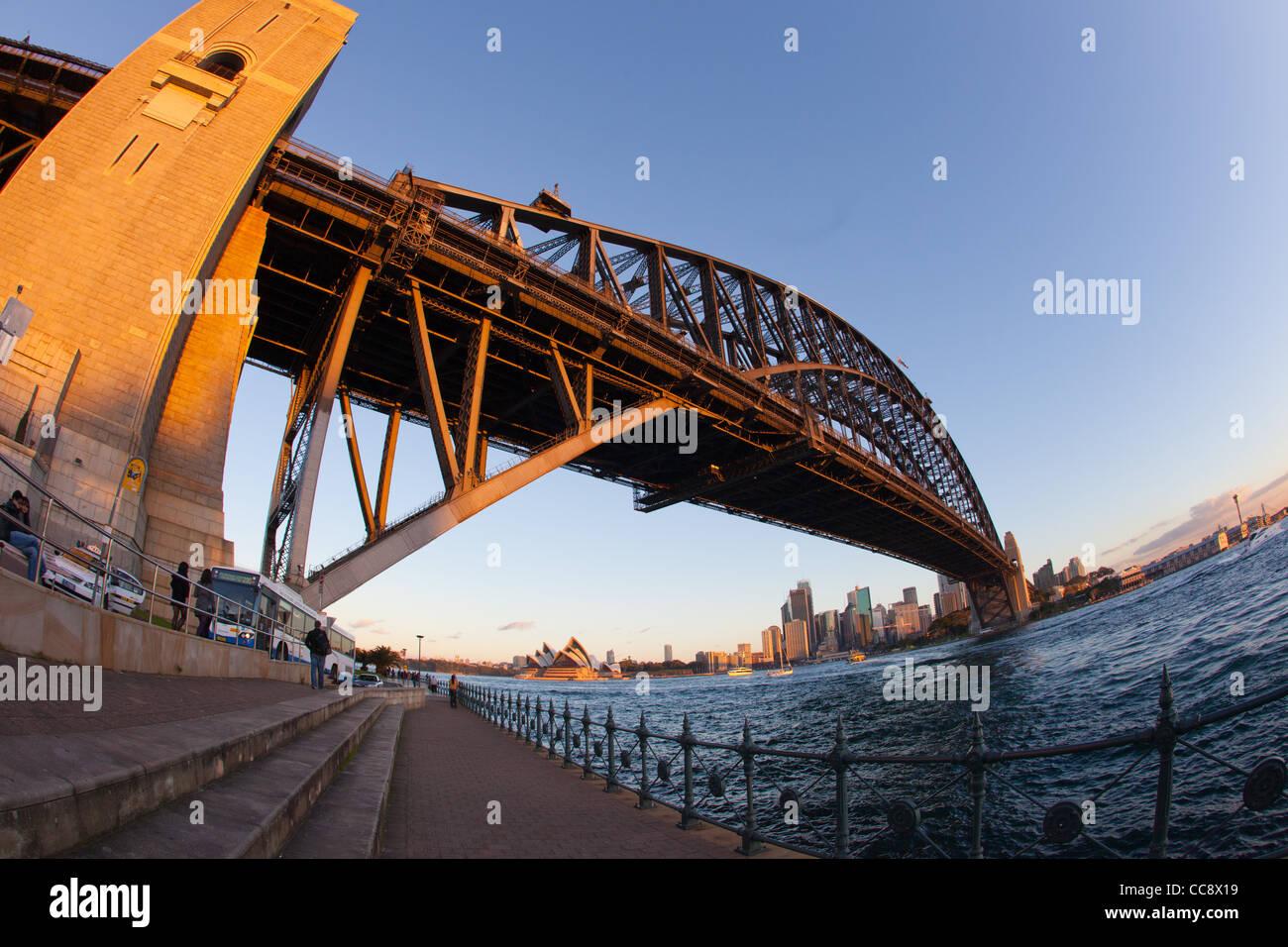 Sydney Harbour Bridge from Kirribilli - Stock Image