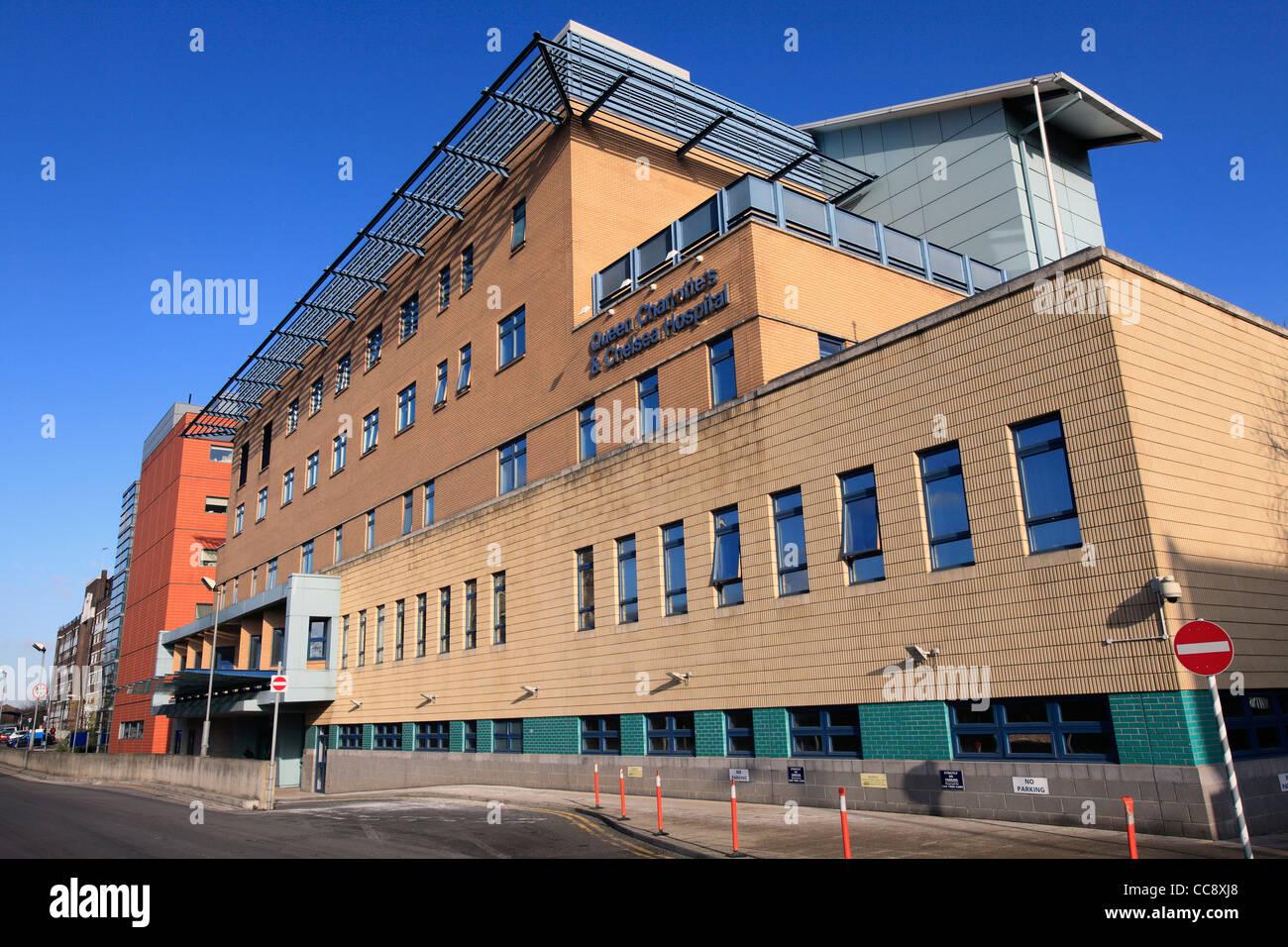 united kingdom west london du cane road queen charlotte's & chelsea hospital - Stock Image