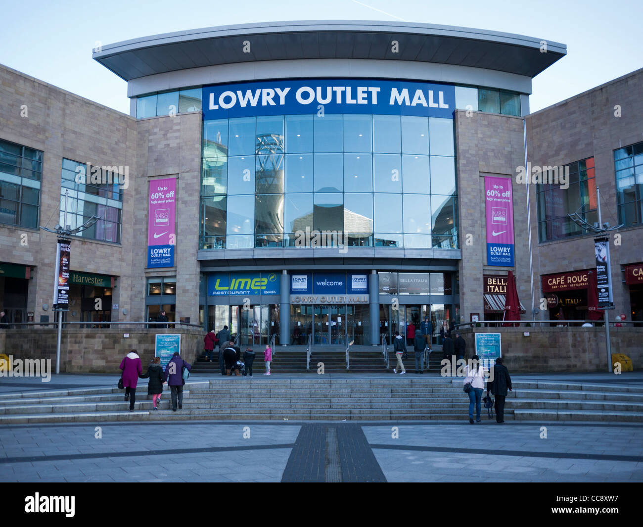 The Lowry retail outlet at Salford Quays Manchester England UK - Stock Image