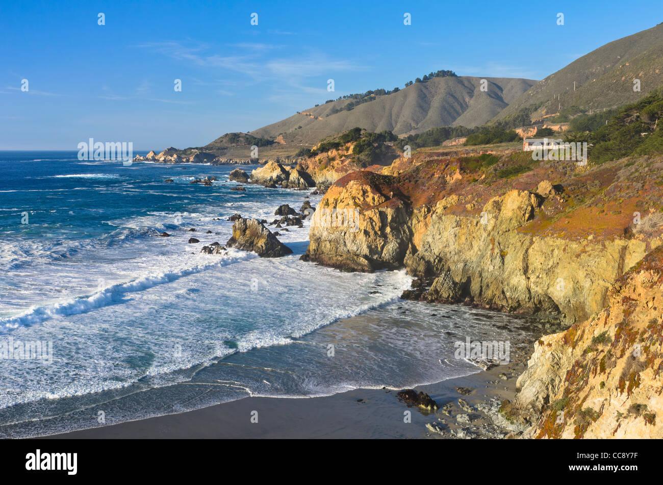 Central Coast, Big Sur near Monterey, California - Stock Image