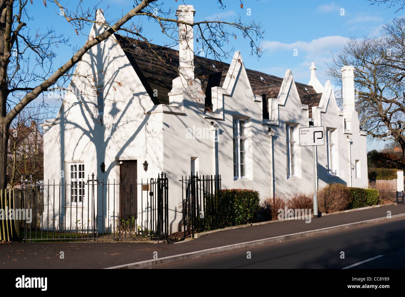 Old Grammar School in Dulwich Village and linked to the College was built in the Tudor style in the 1840s by Sir - Stock Image