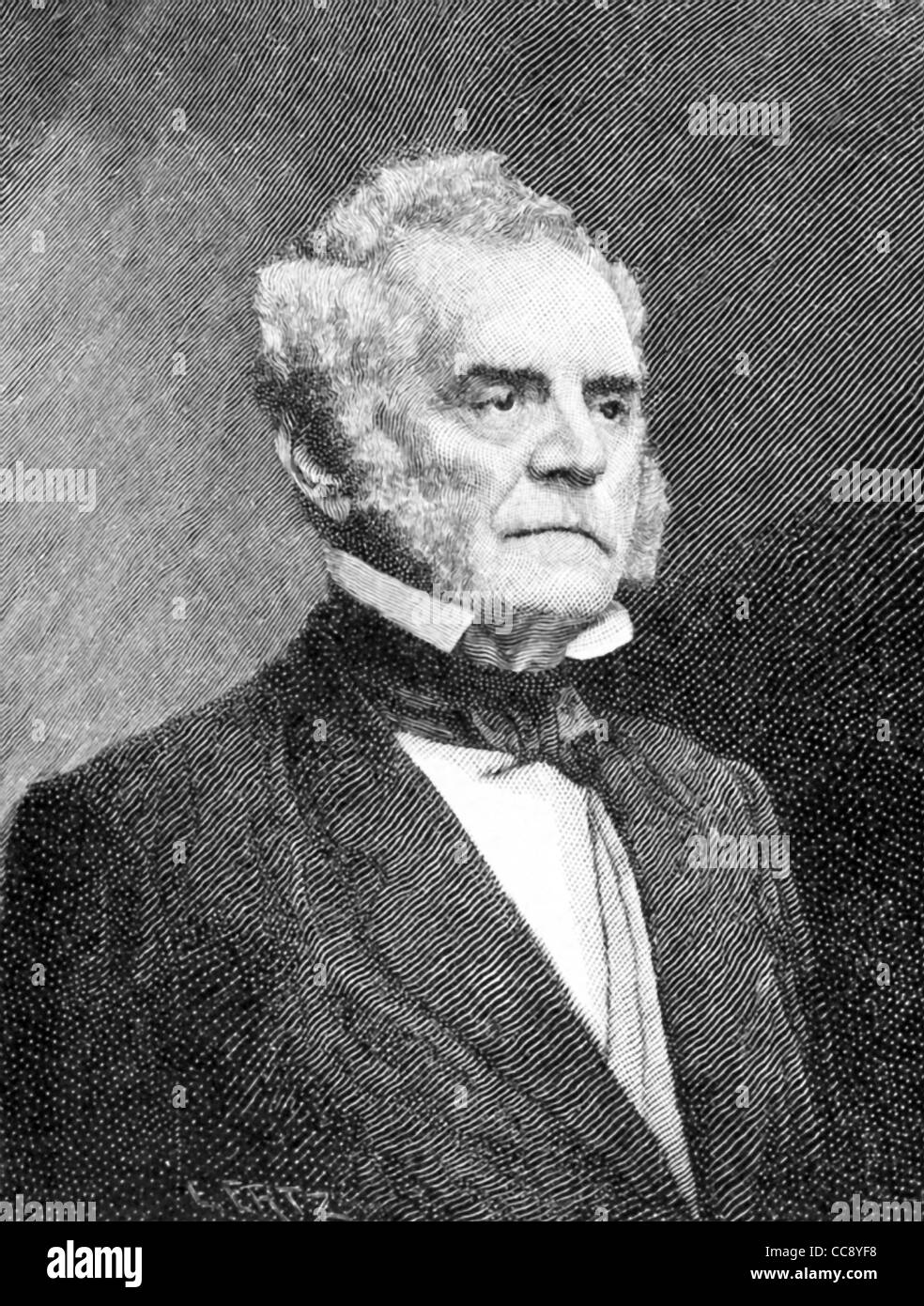 Thomas Holliday Hicks (1798-1865) was an American politician from Maryland, where he served as governor from 1858 - Stock Image