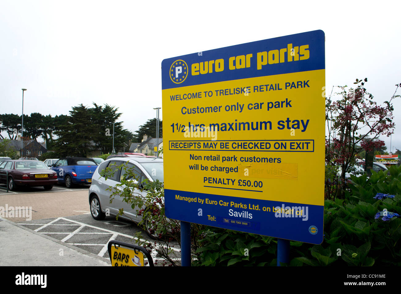 A Euro Car Parks Information Sign Stock Photo 41995534 Alamy