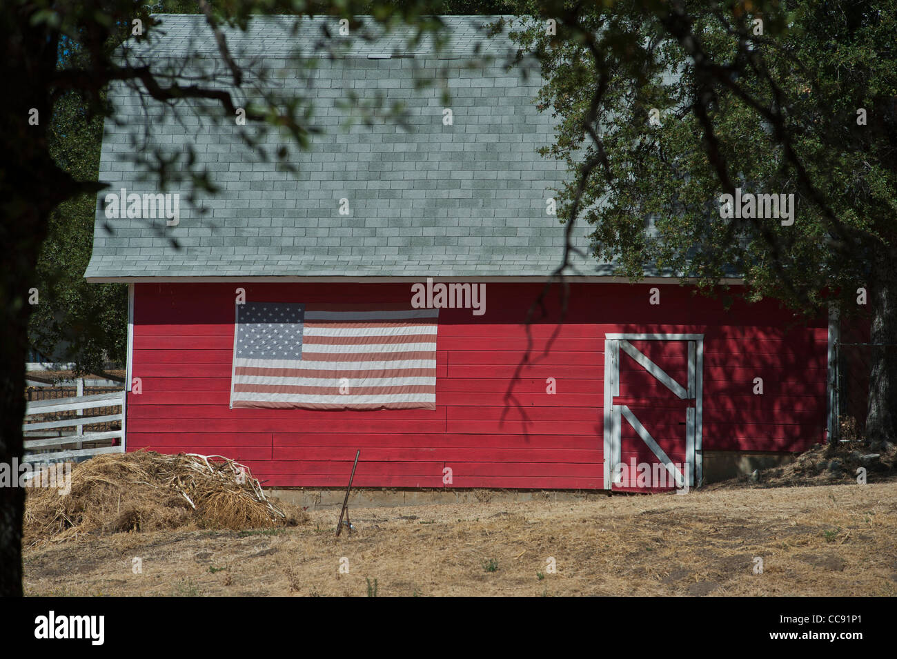 Farmhouse near Sutters mill at Marshall Gold Discovery Site Coloma California - Stock Image