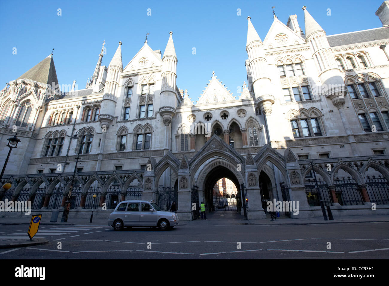 the royal courts of justice building London England UK United kingdom - Stock Image
