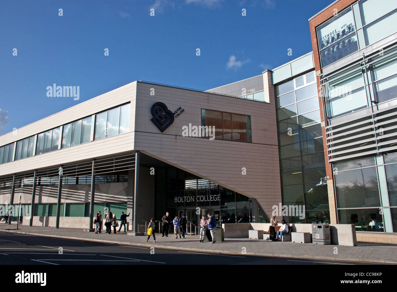 Bolton Sixth Form College, Town Centre Campus, Deane Road, Bolton, Greater Manchester, England, UK - Stock Image