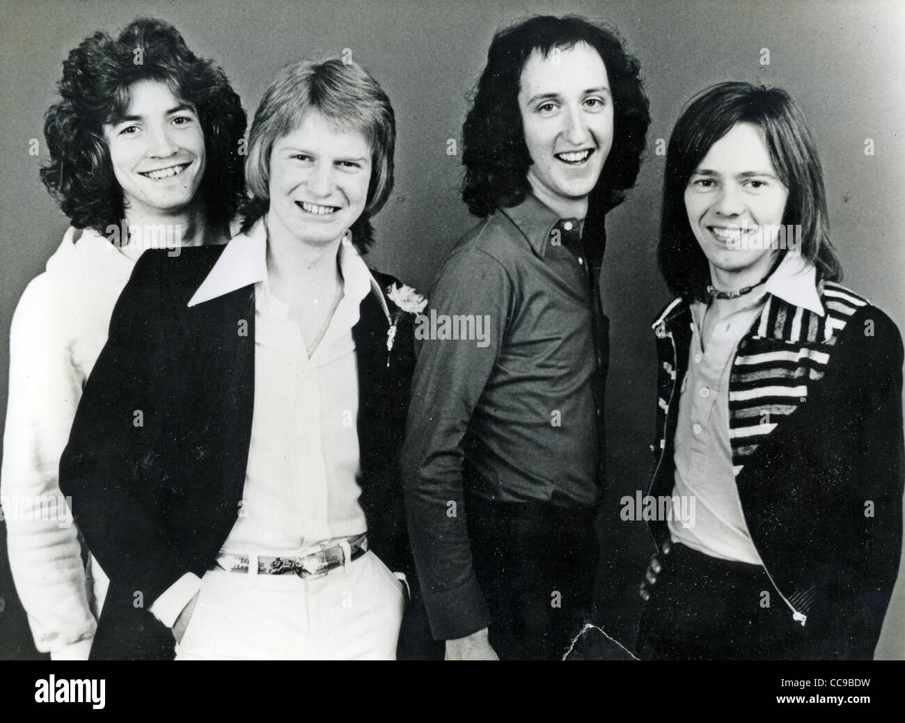 PILOT  Promotional photo of UK pop group about  1974 from left: Stuart Tosh, Billy Lyall, Ian Bairnson, David Patton Stock Photo