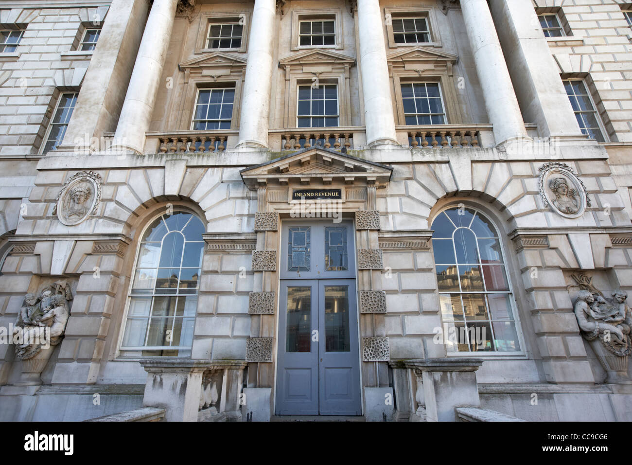 inland revenue doorway inside somerset house London England UK United kingdom - Stock Image