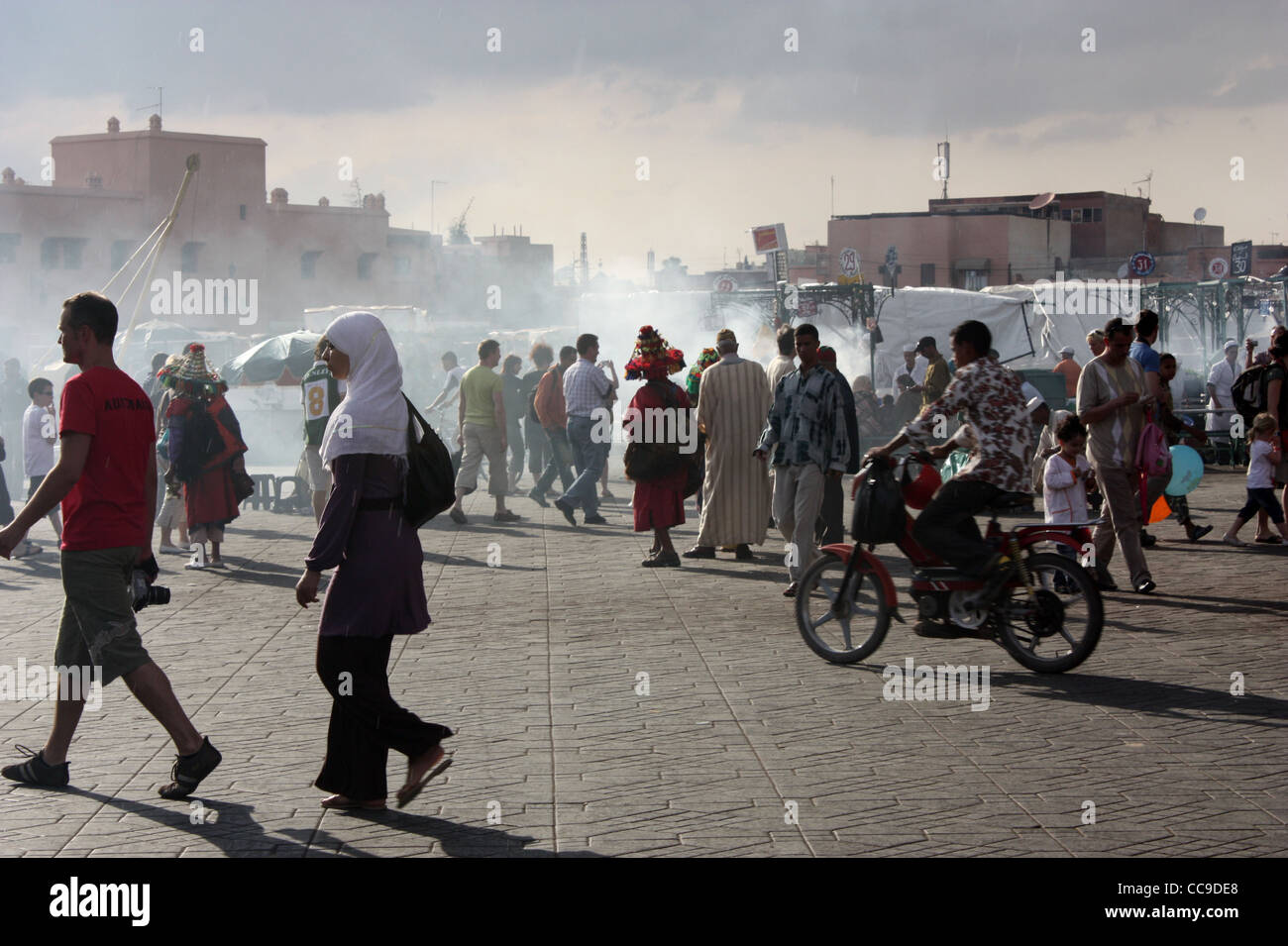 Jemaa el Fna square and market place in the Medina in Marrakech, Morrocco. - Stock Image