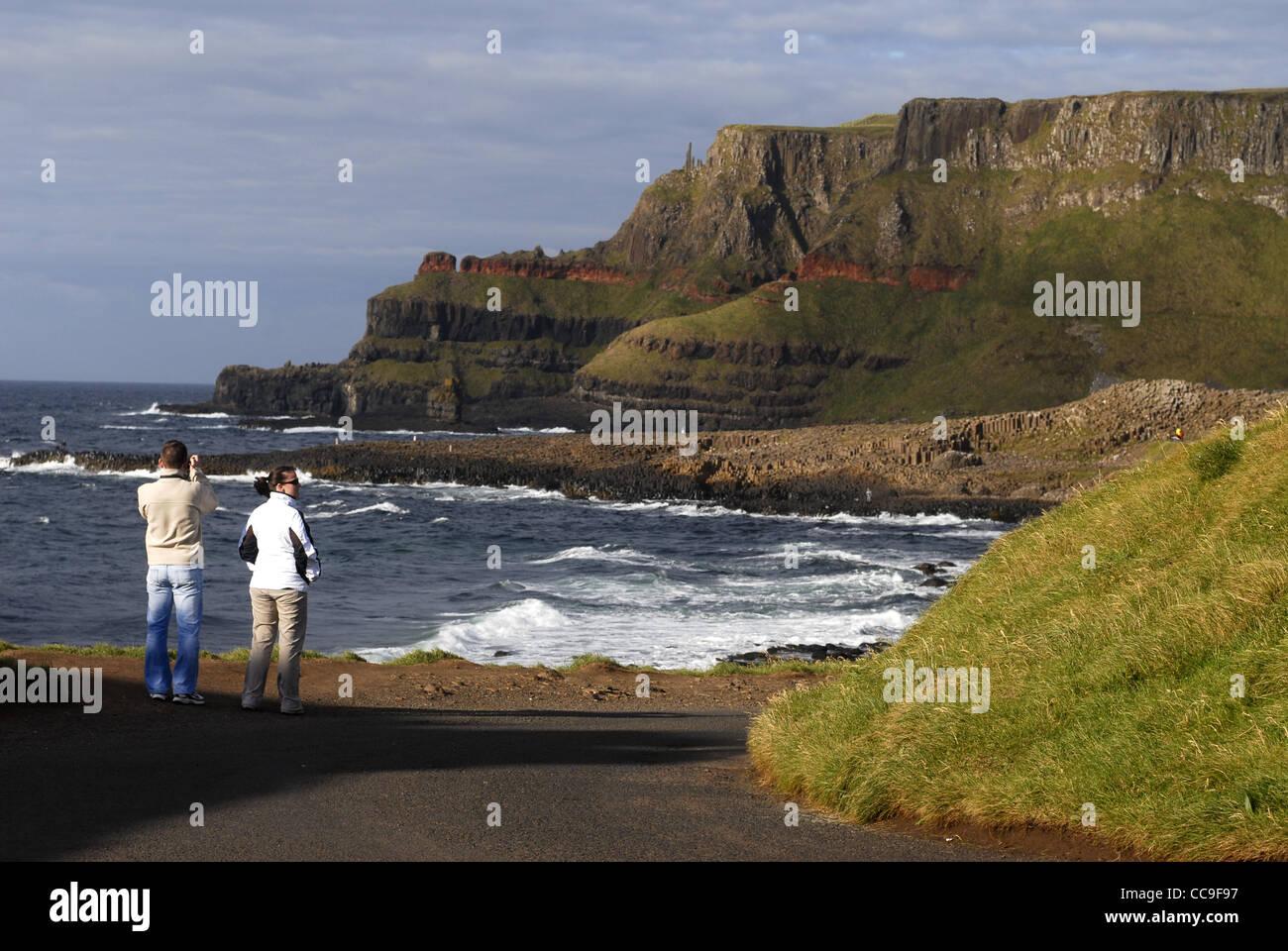Near Giant's Causeway, Coastal Road, County Antrim, Ulster, North Ireland, UK, Europe. - Stock Image
