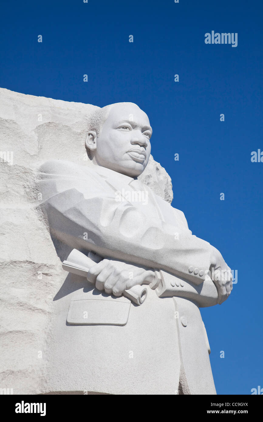 Martin Luther King Junior Memorial at the National Mall and memorial parks in Washington DC Stock Photo