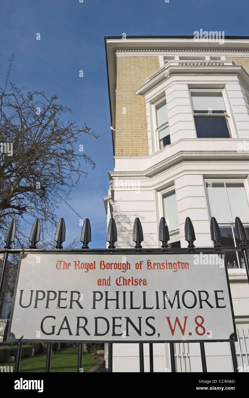 Upper Phillimore Gardens Stock Photos & Upper Phillimore