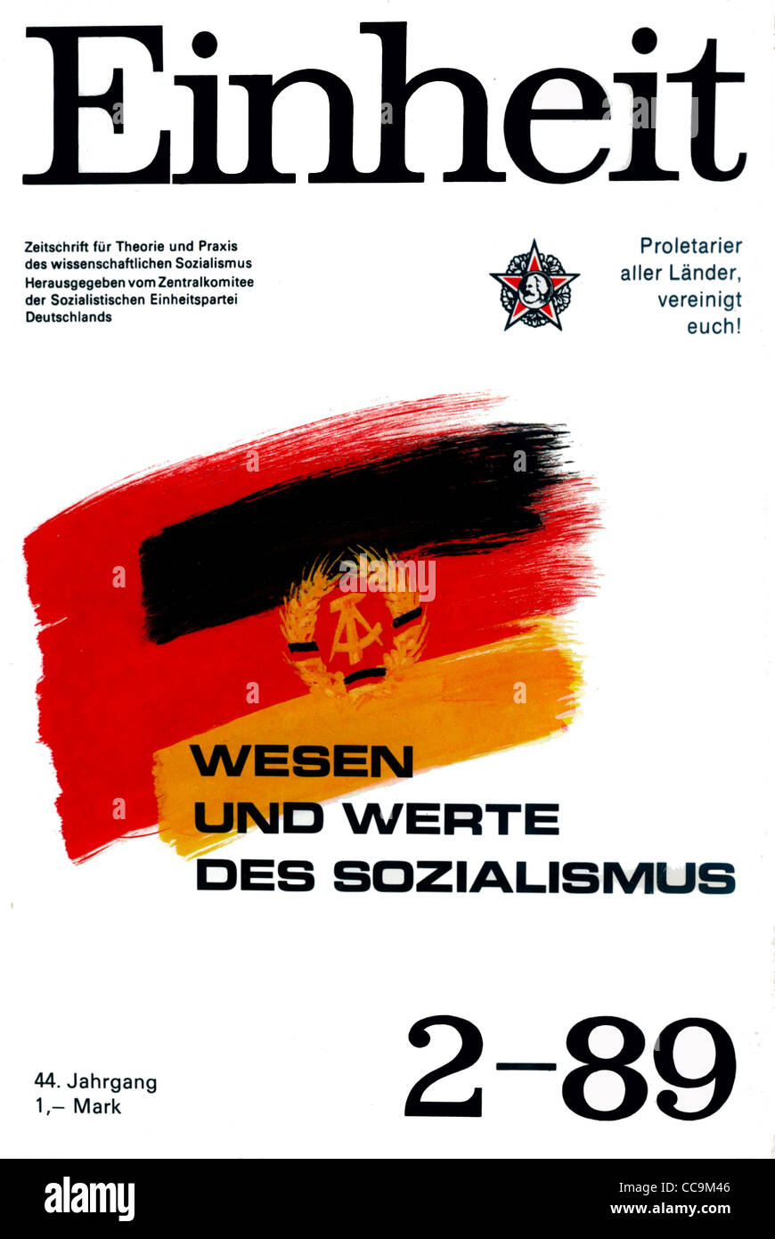 Political magazine of the official party SED of the GDR of February 1989. - Stock Image