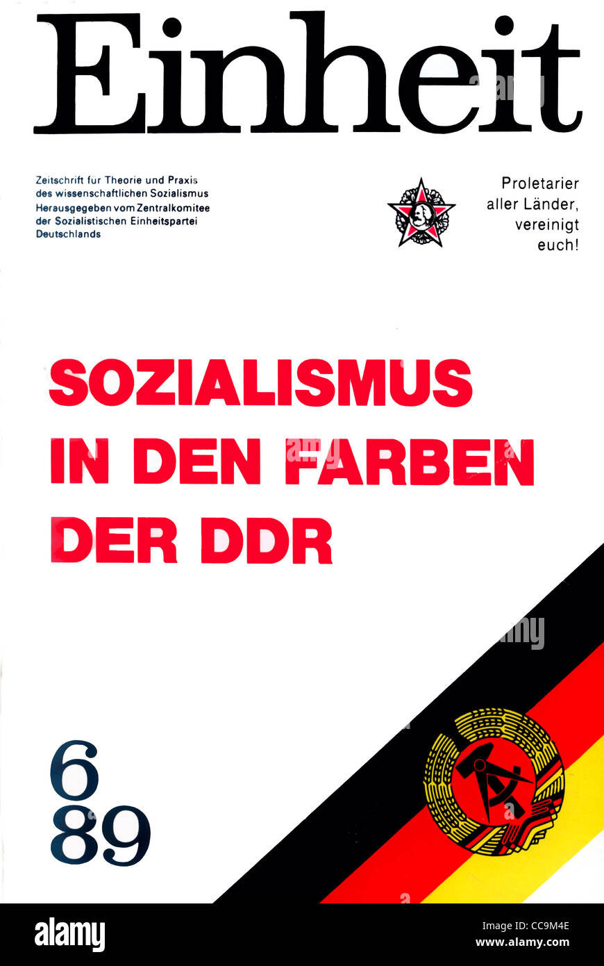 Political magazine of the official party SED of the GDR of June 1989. - Stock Image