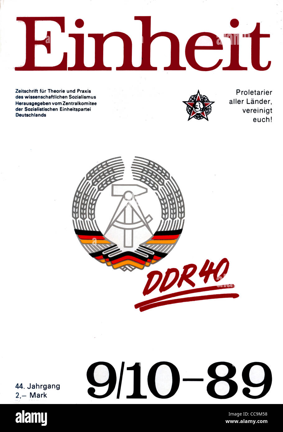Political magazine of the official party SED of the GDR of October 1989. - Stock Image