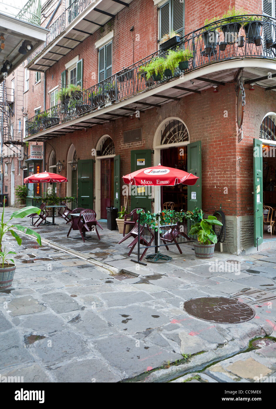 Tony sevilles pirates alley cafe with outdoor seating along st peter street in the french quarter of new orleans la