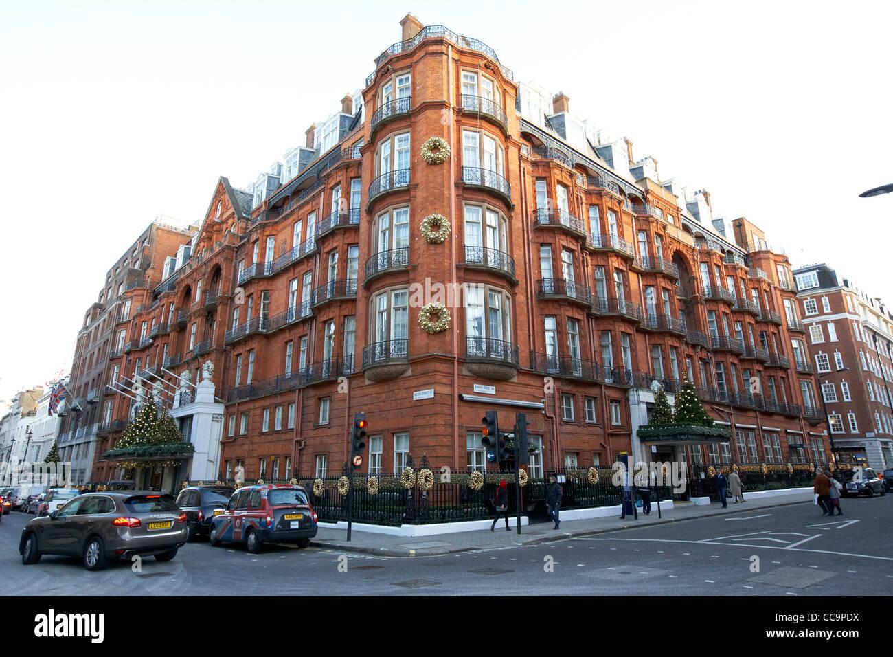 Claridges luxury mayfair hotel London England UK United kingdom - Stock Image