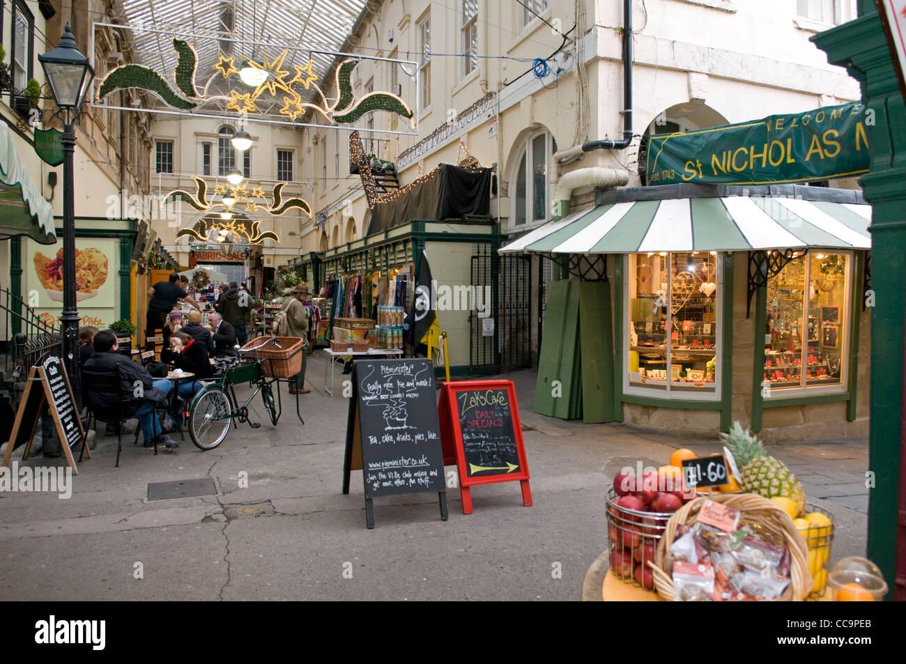 St Nicholas Market ,Bristol, UK - Stock Image