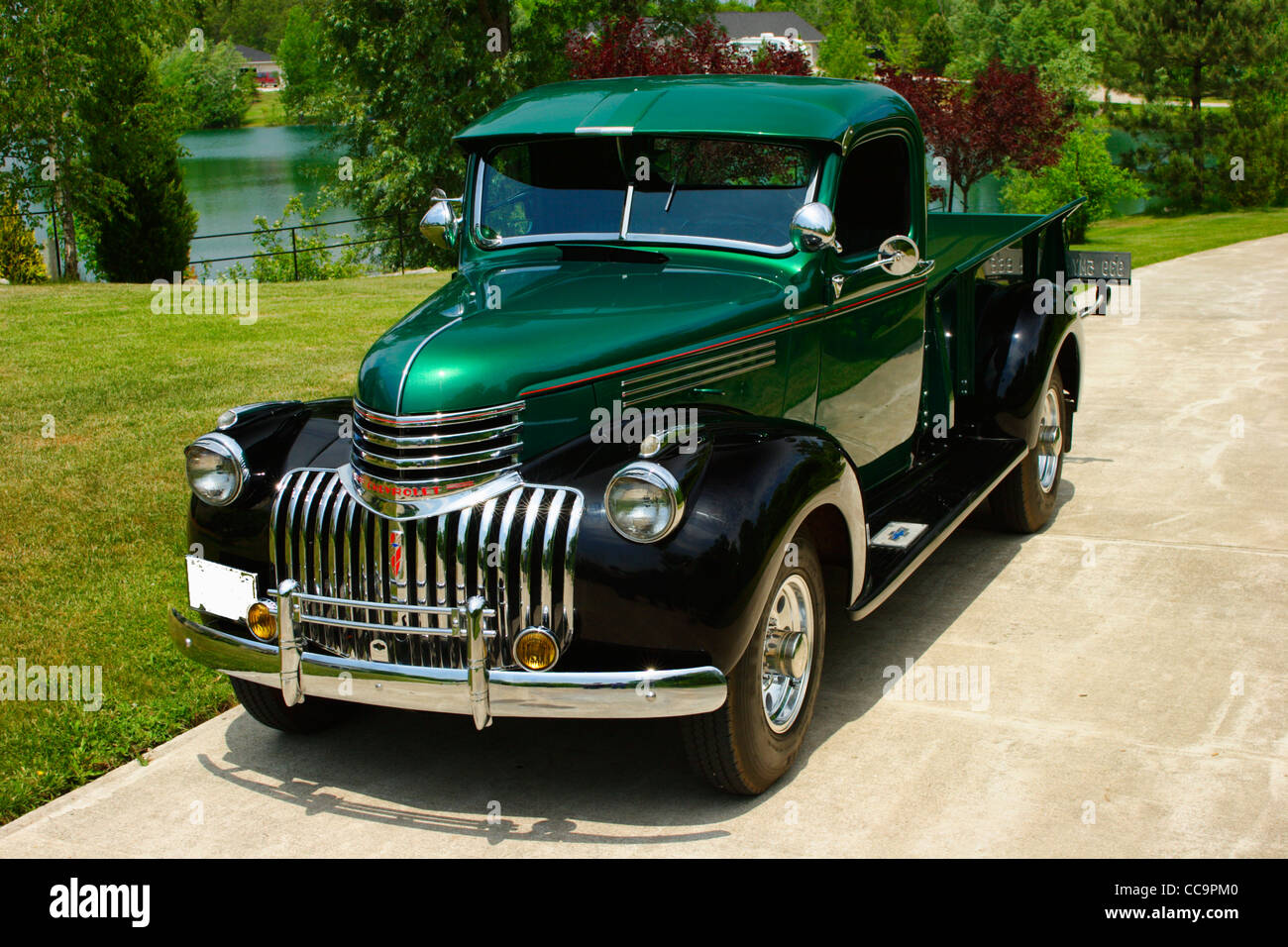 1946 Chevrolet 3/4 ton Pickup truck Stock Photo, Royalty Free ...