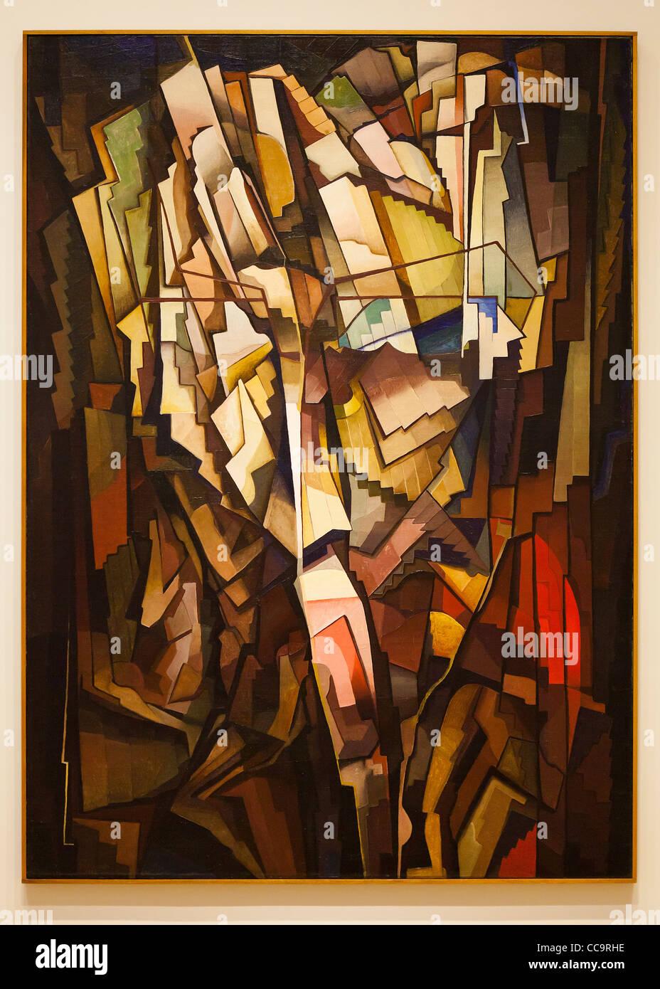 'Synthetic Arrangement' by Morris Kantor c. 1922 - Smithsonian National Gallery of Art, Washington, DC USA - Stock Image