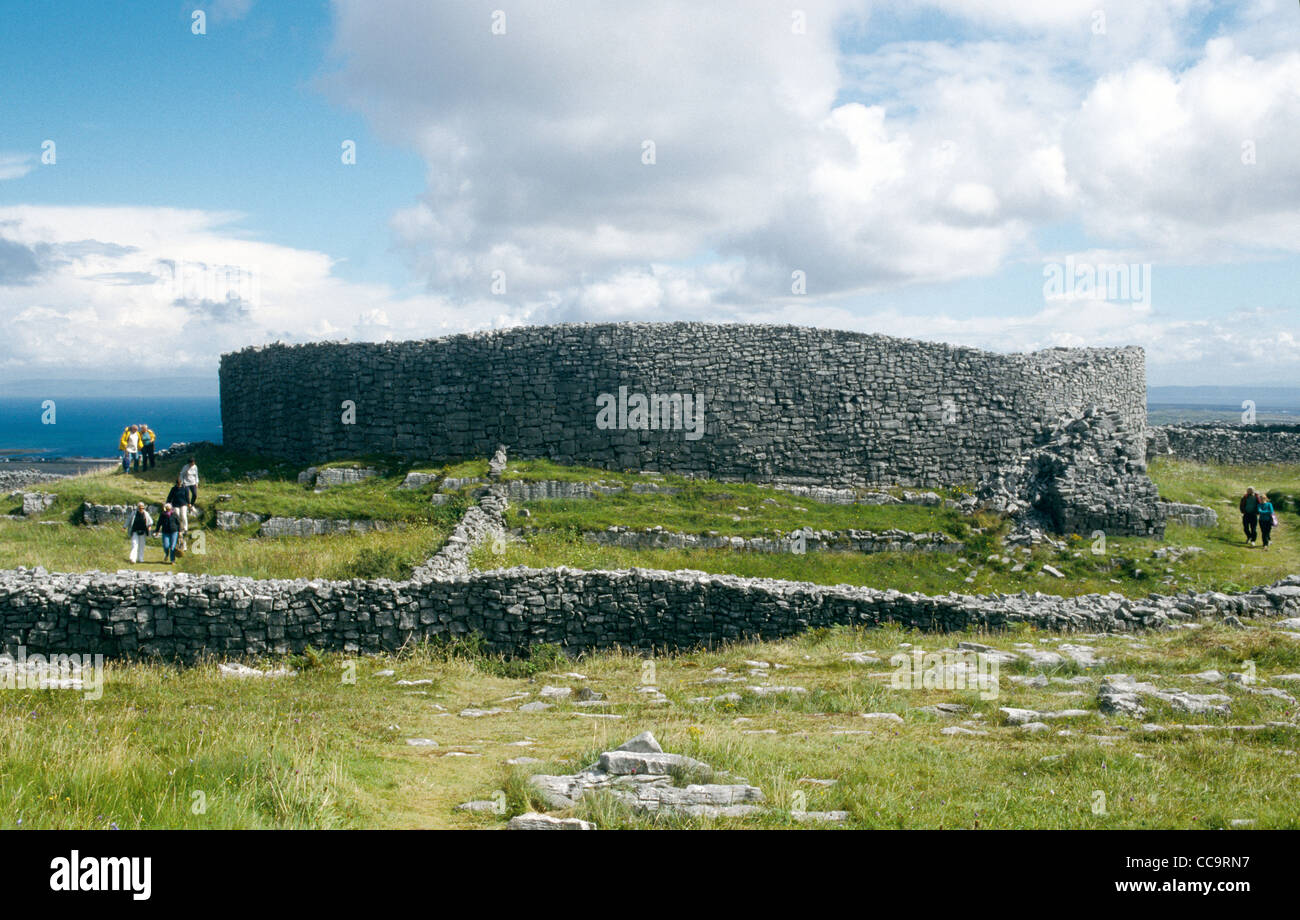An Iron Age Fort on Inis Mor Aran Islands Co Galway Ireland - Stock Image