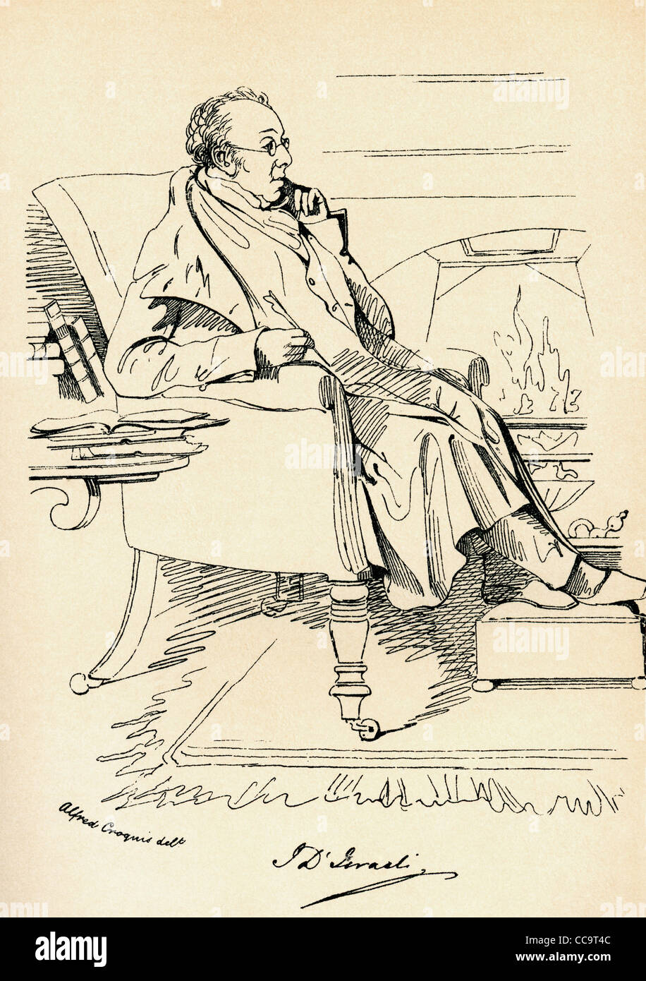 Isaac D'Israeli, 1766 – 1848. British writer, scholar and man of letters. Stock Photo