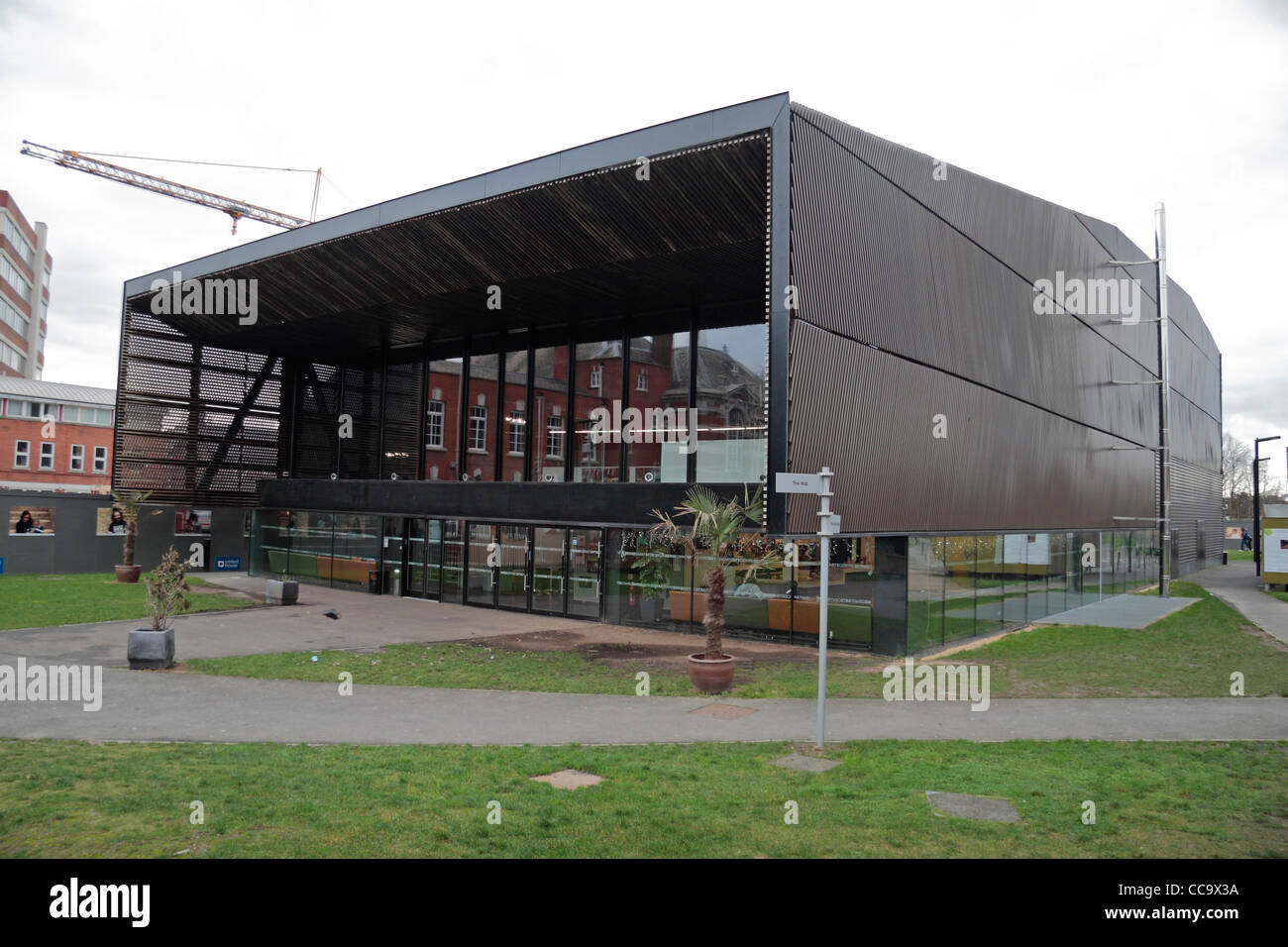The Performance Building, part of the Bernie Grant Arts Centre, designed by David Adjaye, in Tottenham, London, - Stock Image