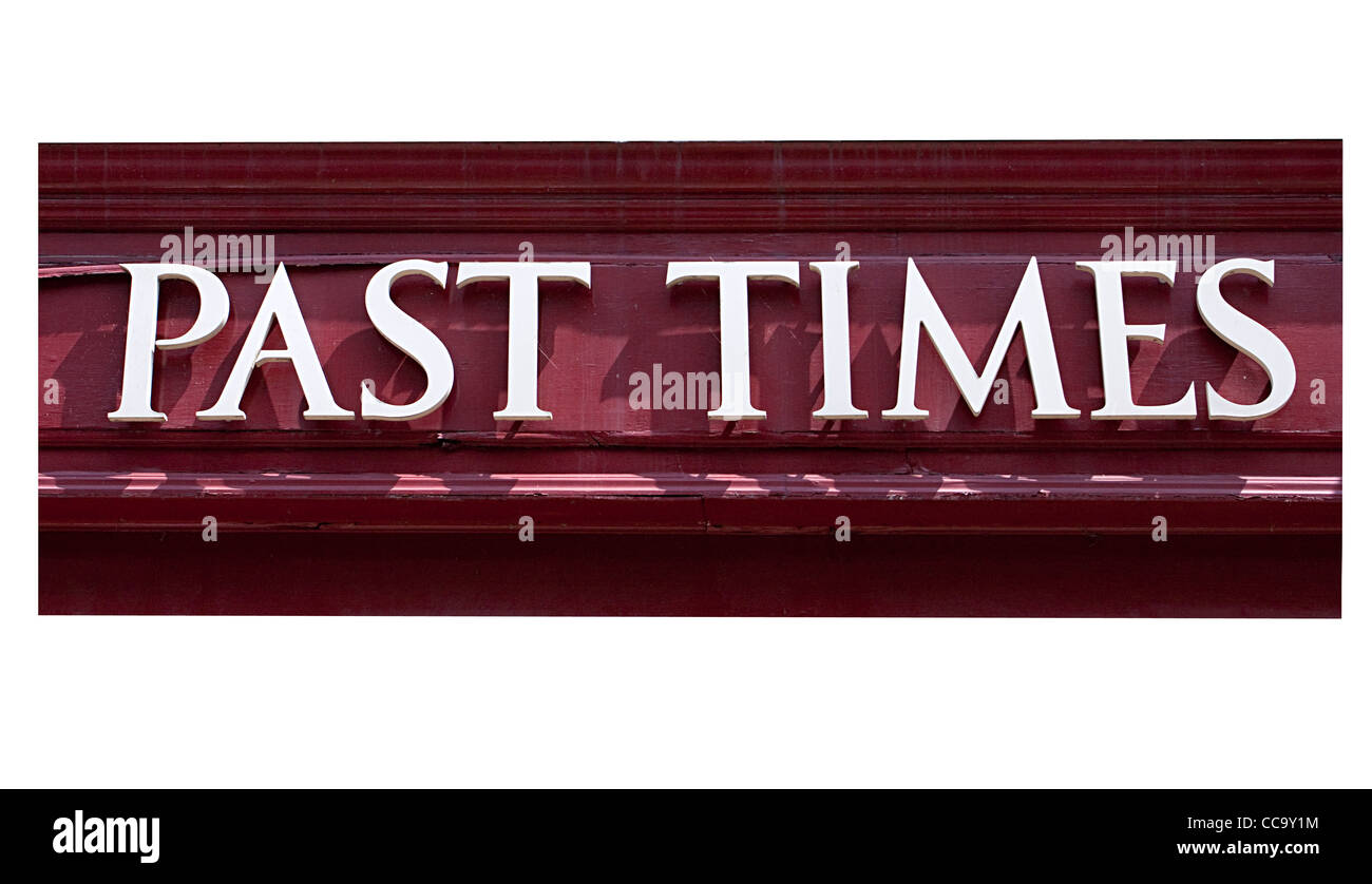 Past Times Shop Store Sign high street - Stock Image