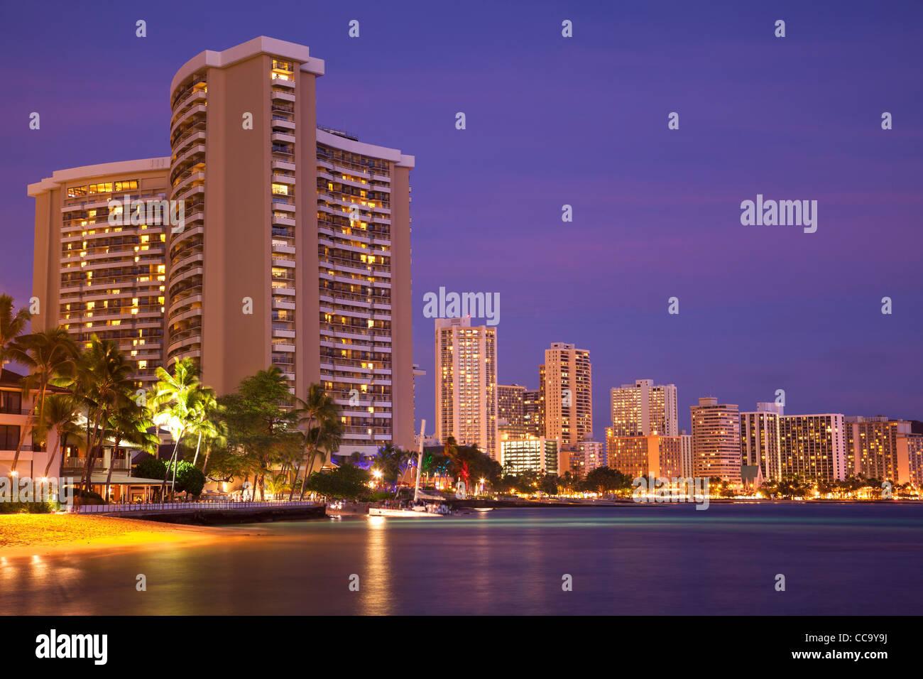 Waikiki, Honolulu, Hawaii. - Stock Image