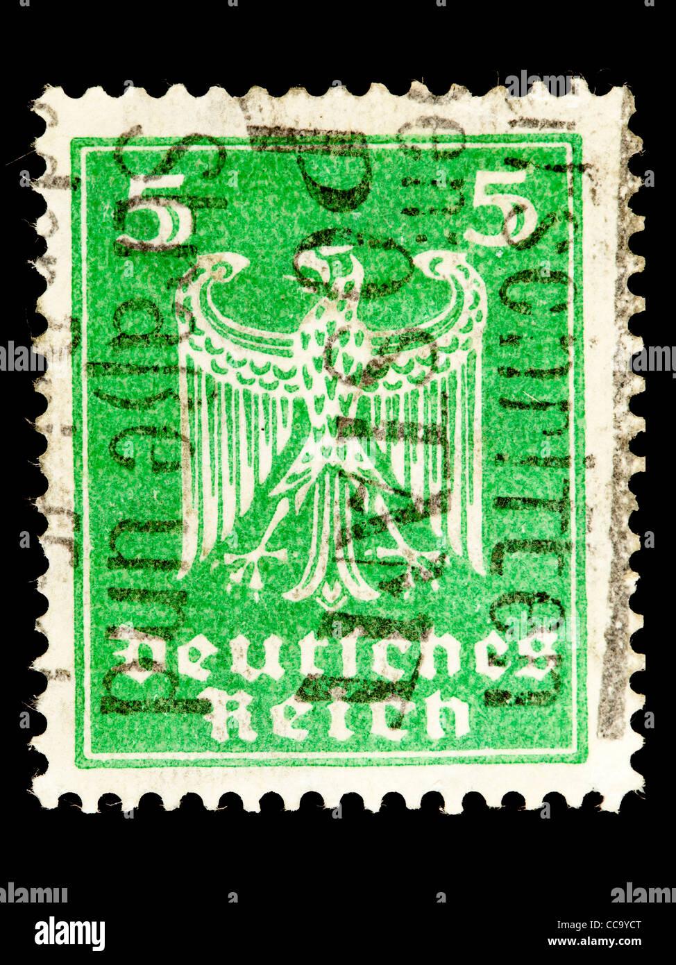 Postage Stamp German Reich Imperial Eagle 1924 5 Pfennig Stamped
