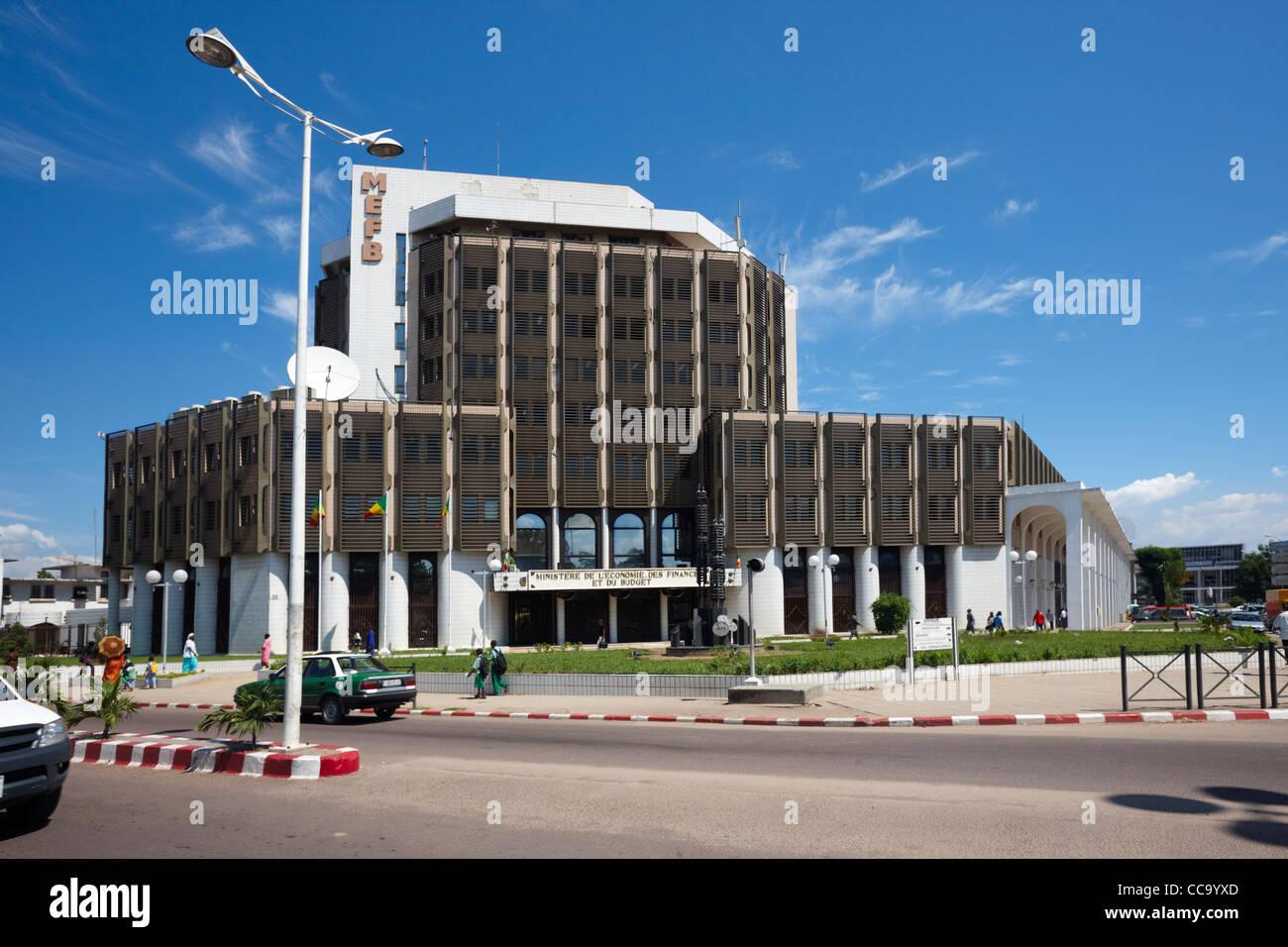 Ministere de L'Economie des Finances et du Budget, Brazzaville, Republic of Congo, Africa - Stock Image