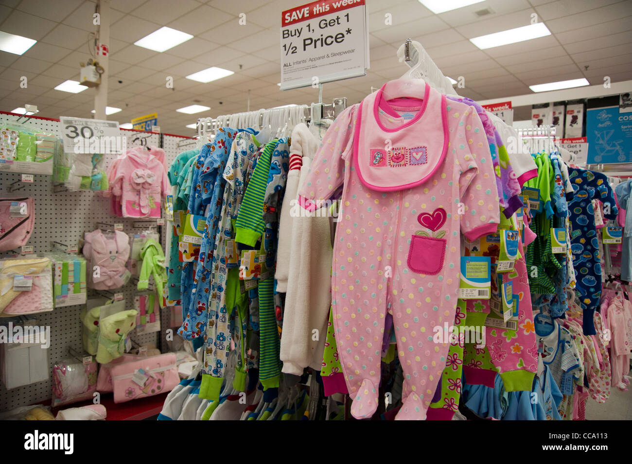 b953e88273cfa Baby clothes and merchandise for sale inside a department store ...
