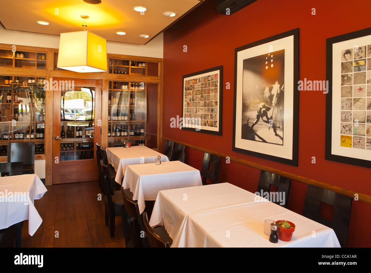Artisan Restaurant, Paso Robles, California, United States of America - Stock Image