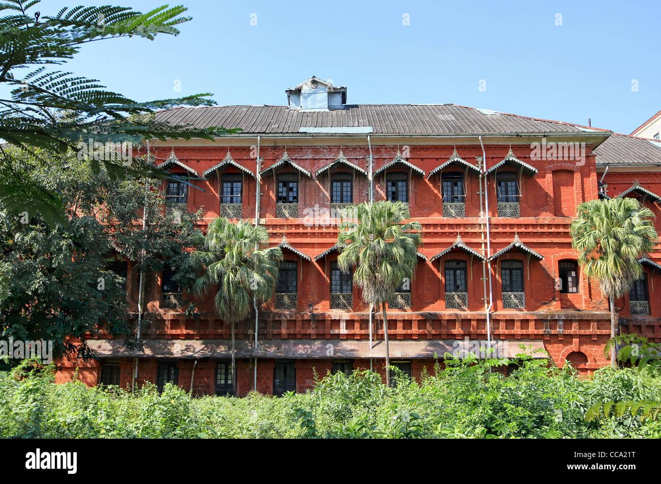 Old Burma Railway Headquarters, Yangon - Stock Image
