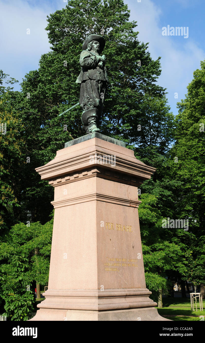 Statue of Per Brahe the Younger (1602 – 1680), a Privy Councillor from 1630 and Lord High Steward from 1640 - Stock Image