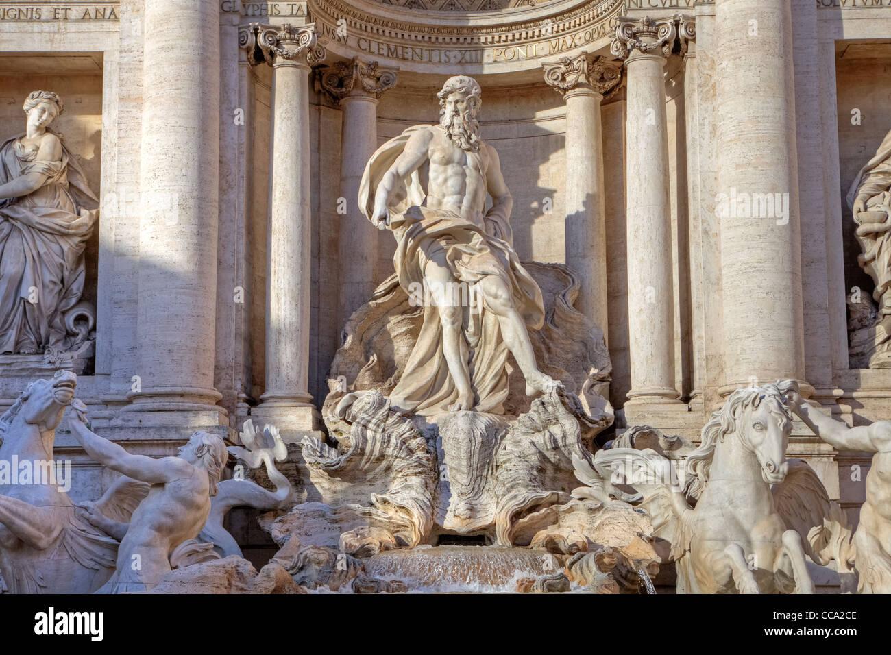 Trevi fountain in Rome - Stock Image