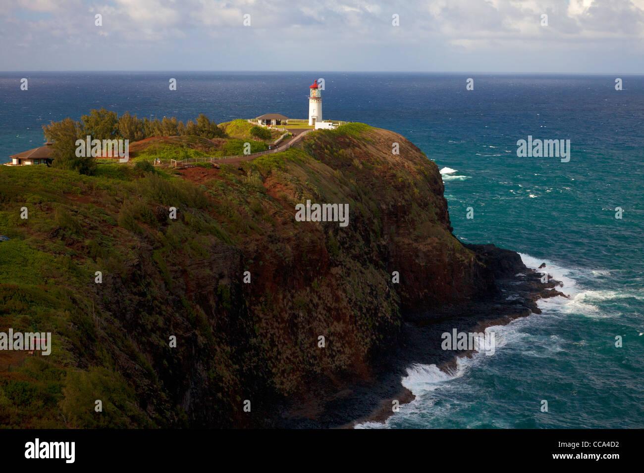 Kilauea Lighthouse, Kauai, Hawaii. - Stock Image
