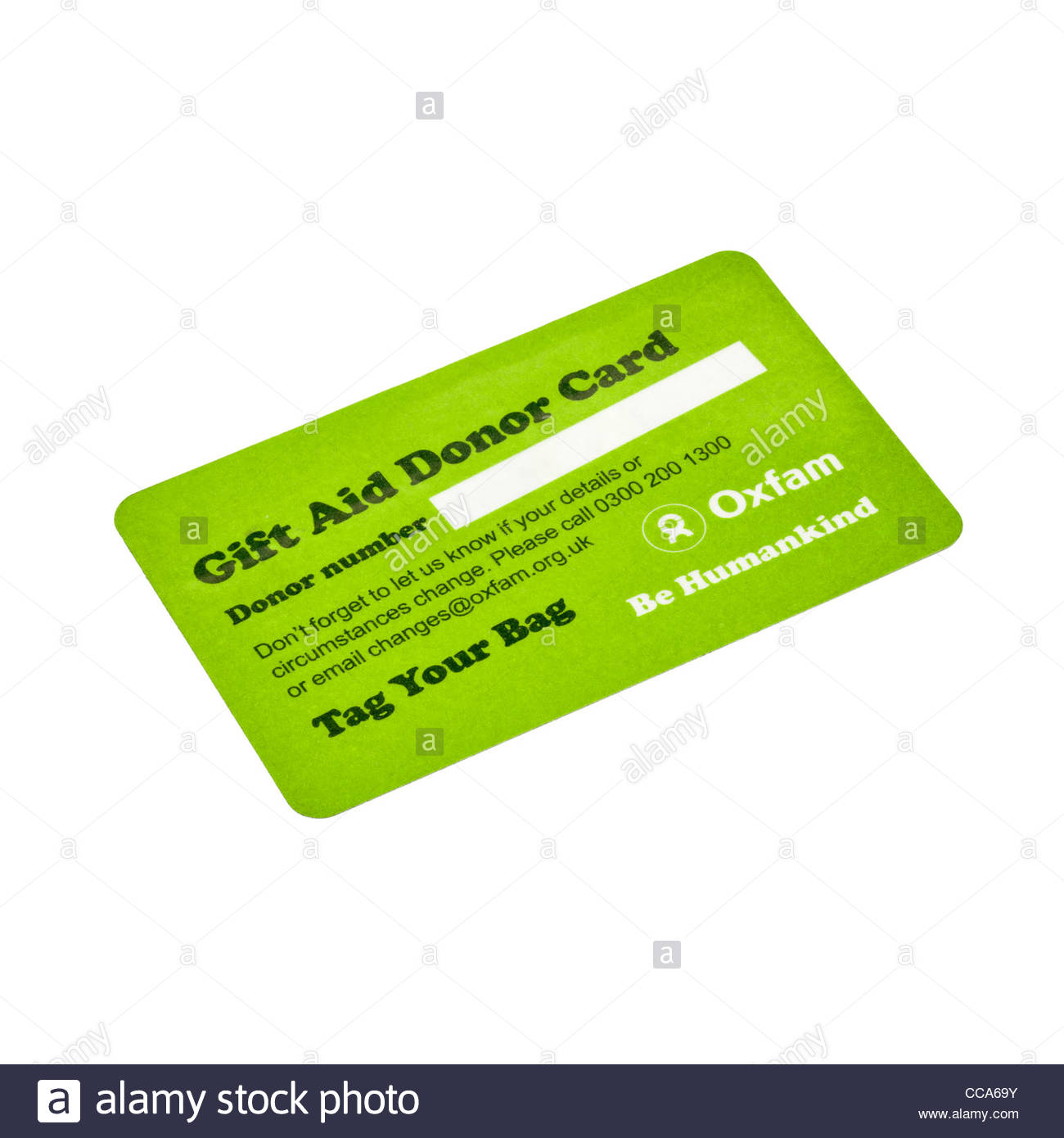 Oxfam gift aid donor card stock photo 42021111 alamy oxfam gift aid donor card negle Images