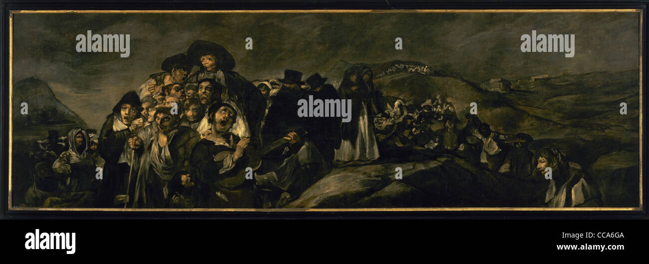 Francisco de Goya (1746-1828). Spanish romantic painter. The Pilgrimage to San Isidro. 1821-1823. Prado Museum. - Stock Image