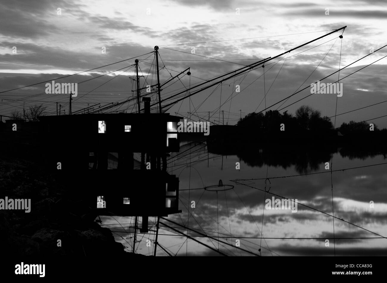 Comacchio Valleys - Stock Image
